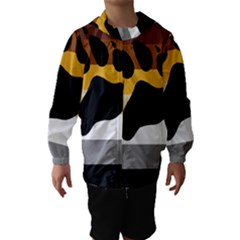 Bear Pride Flag Hooded Wind Breaker (kids)