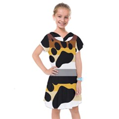 Bear Pride Flag Kids  Drop Waist Dress