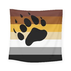 Bear Pride Flag Square Tapestry (small)