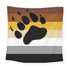 Bear Pride Flag Square Tapestry (large)
