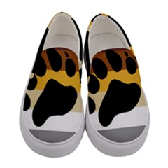 Bear Pride Flag Women s Canvas Slip Ons