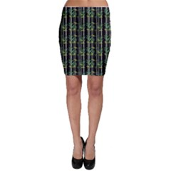 Bamboo Pattern Bodycon Skirt