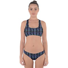 Bamboo Pattern Cross Back Hipster Bikini Set
