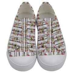 Bamboo Pattern Kids  Low Top Canvas Sneakers