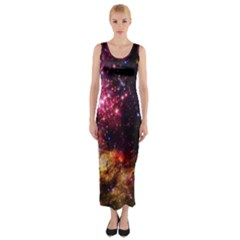 Space Colors Fitted Maxi Dress