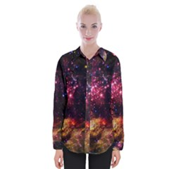 Space Colors Womens Long Sleeve Shirt