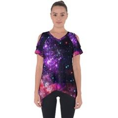 Space Colors Cut Out Side Drop Tee