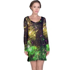 Space Colors Long Sleeve Nightdress