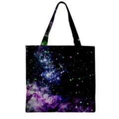 Space Colors Zipper Grocery Tote Bag