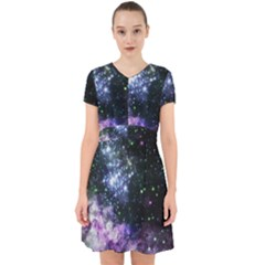 Space Colors Adorable In Chiffon Dress
