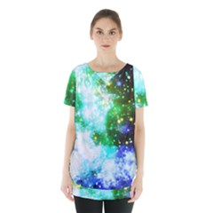 Space Colors Skirt Hem Sports Top