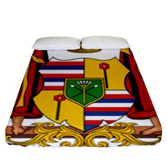 Kingdom Of Hawaii Coat Of Arms, 1795 1850 Fitted Sheet (queen Size)