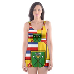 Kingdom Of Hawaii Coat Of Arms, 1795 1850 Skater Dress Swimsuit