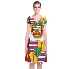 Kingdom Of Hawaii Coat Of Arms, 1795 1850 Short Sleeve Front Wrap Dress