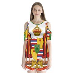 Kingdom Of Hawaii Coat Of Arms, 1795 1850 Shoulder Cutout Velvet  One Piece