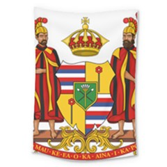 Kingdom Of Hawaii Coat Of Arms, 1795 1850 Large Tapestry