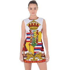 Kingdom Of Hawaii Coat Of Arms, 1795 1850 Lace Up Front Bodycon Dress