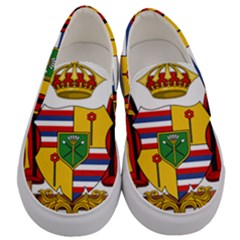 Kingdom Of Hawaii Coat Of Arms, 1795 1850 Men s Canvas Slip Ons