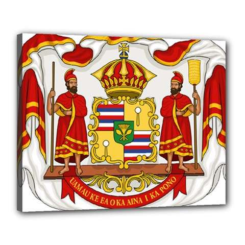Kingdom Of Hawaii Coat Of Arms, 1850 1893 Canvas 20  X 16