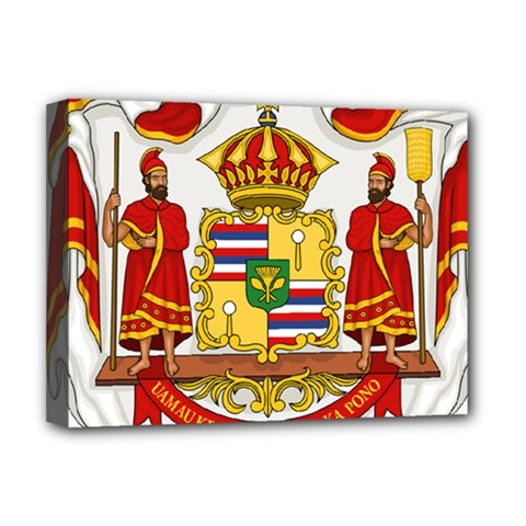 Kingdom Of Hawaii Coat Of Arms, 1850 1893 Deluxe Canvas 16  X 12