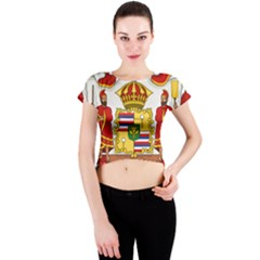 Kingdom Of Hawaii Coat Of Arms, 1850 1893 Crew Neck Crop Top
