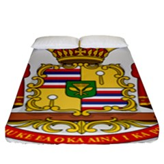 Kingdom Of Hawaii Coat Of Arms, 1850 1893 Fitted Sheet (king Size)