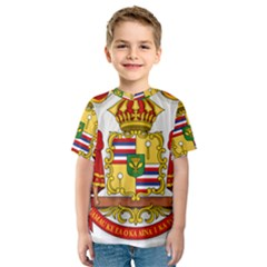 Kingdom Of Hawaii Coat Of Arms, 1850 1893 Kids  Sport Mesh Tee