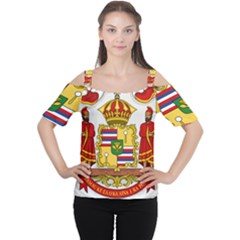 Kingdom Of Hawaii Coat Of Arms, 1850 1893 Cutout Shoulder Tee