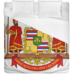 Kingdom Of Hawaii Coat Of Arms, 1850 1893 Duvet Cover (king Size)
