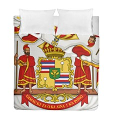 Kingdom Of Hawaii Coat Of Arms, 1850 1893 Duvet Cover Double Side (full/ Double Size)