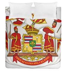 Kingdom Of Hawaii Coat Of Arms, 1850 1893 Duvet Cover Double Side (queen Size)