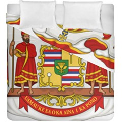 Kingdom Of Hawaii Coat Of Arms, 1850 1893 Duvet Cover Double Side (king Size)
