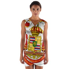 Kingdom Of Hawaii Coat Of Arms, 1850 1893 Wrap Front Bodycon Dress