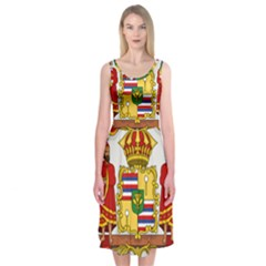 Kingdom Of Hawaii Coat Of Arms, 1850 1893 Midi Sleeveless Dress