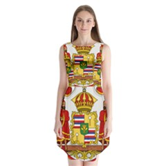 Kingdom Of Hawaii Coat Of Arms, 1850 1893 Sleeveless Chiffon Dress