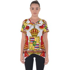 Kingdom Of Hawaii Coat Of Arms, 1850 1893 Cut Out Side Drop Tee