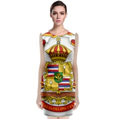Kingdom Of Hawaii Coat Of Arms, 1850 1893 Sleeveless Velvet Midi Dress