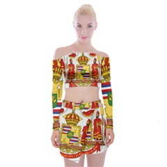Kingdom Of Hawaii Coat Of Arms, 1850 1893 Off Shoulder Top With Skirt Set