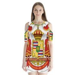 Kingdom Of Hawaii Coat Of Arms, 1850 1893 Shoulder Cutout Velvet  One Piece