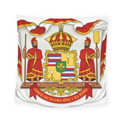 Kingdom Of Hawaii Coat Of Arms, 1850 1893 Square Tapestry (small)