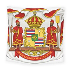 Kingdom Of Hawaii Coat Of Arms, 1850 1893 Square Tapestry (large)
