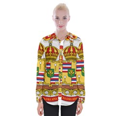 Kingdom Of Hawaii Coat Of Arms, 1850 1893 Womens Long Sleeve Shirt