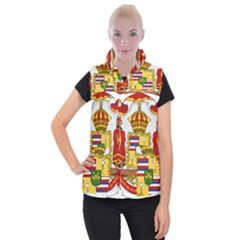 Kingdom Of Hawaii Coat Of Arms, 1850 1893 Women s Button Up Puffer Vest