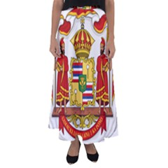 Kingdom Of Hawaii Coat Of Arms, 1850 1893 Flared Maxi Skirt