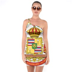 Kingdom Of Hawaii Coat Of Arms, 1850 1893 One Soulder Bodycon Dress