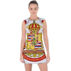 Kingdom Of Hawaii Coat Of Arms, 1850 1893 Lace Up Front Bodycon Dress
