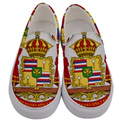 Kingdom Of Hawaii Coat Of Arms, 1850 1893 Men s Canvas Slip Ons