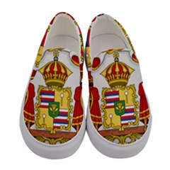 Kingdom Of Hawaii Coat Of Arms, 1850 1893 Women s Canvas Slip Ons