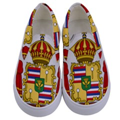 Kingdom Of Hawaii Coat Of Arms, 1850 1893 Kids  Canvas Slip Ons