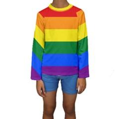Pride Flag Kids  Long Sleeve Swimwear